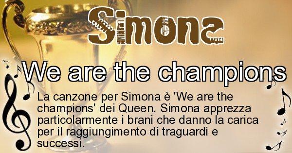 Simona - Canzone ideale per Simona