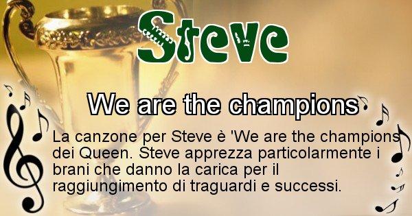 Steve - Canzone ideale per Steve