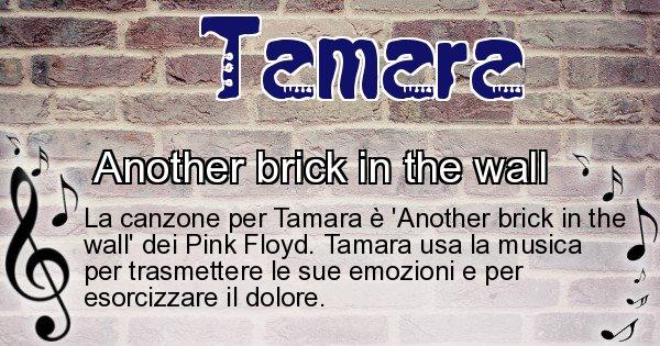 Tamara - Canzone ideale per Tamara
