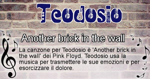 Teodosio - Canzone ideale per Teodosio