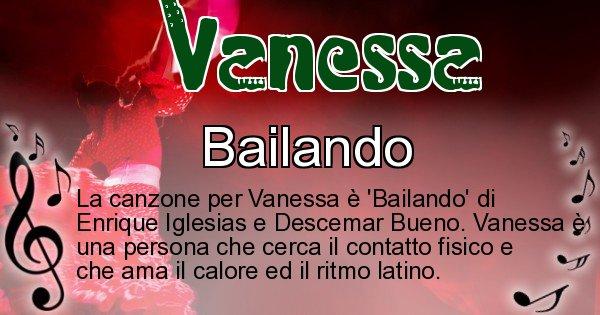 Vanessa - Canzone ideale per Vanessa