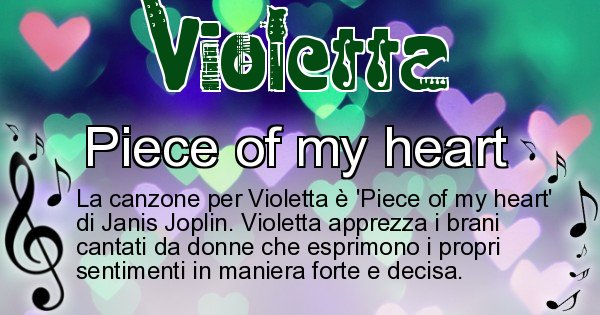 Violetta - Canzone ideale per Violetta