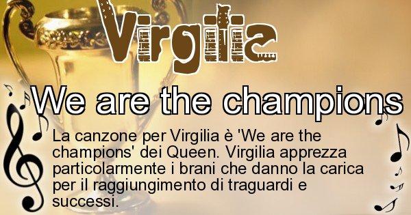 Virgilia - Canzone ideale per Virgilia
