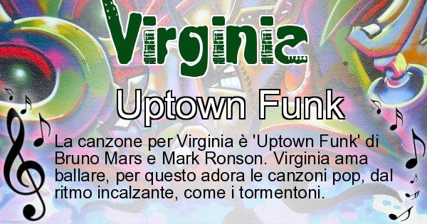 Virginia - Canzone ideale per Virginia