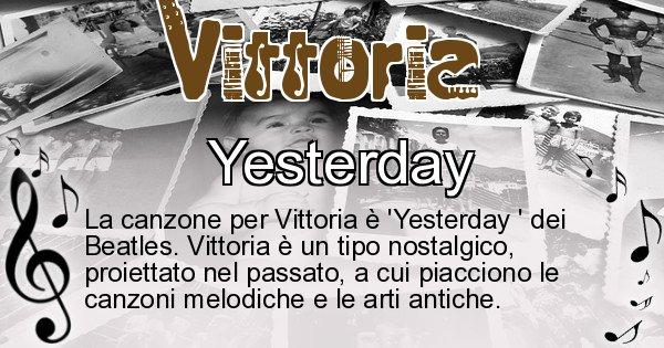 Vittoria - Canzone ideale per Vittoria