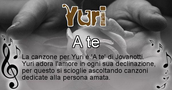 Yuri - Canzone ideale per Yuri