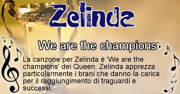 Zelinda - Canzone ideale per Zelinda