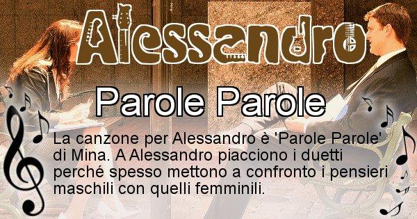 Alessandro - Canzone del Cognome Alessandro
