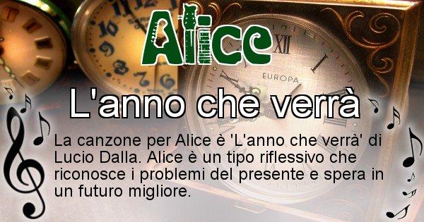 Alice - Canzone del Cognome Alice