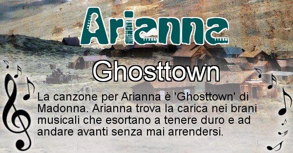 Arianna - Canzone del Cognome Arianna