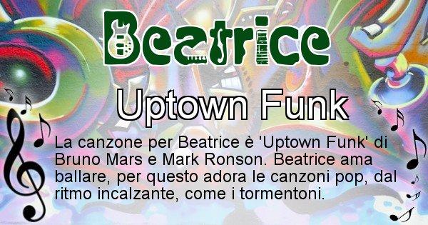 Beatrice - Canzone del Cognome Beatrice