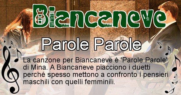 Biancaneve - Canzone del Cognome Biancaneve