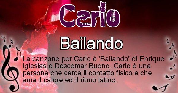 Carlo - Canzone del Cognome Carlo