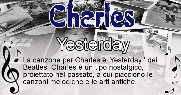 Charles - Canzone del Cognome Charles