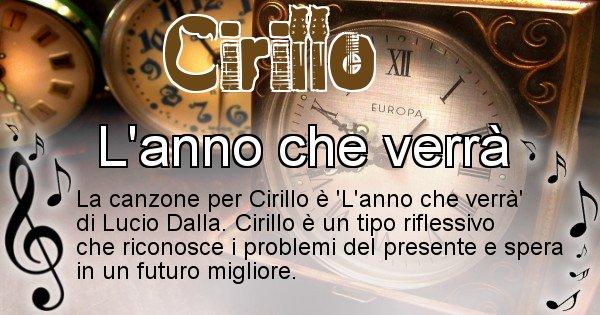 Cirillo - Canzone del Cognome Cirillo