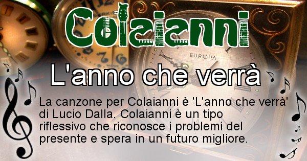 Colaianni - Canzone del Cognome Colaianni