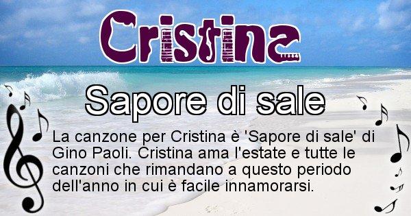 Cristina - Canzone del Cognome Cristina