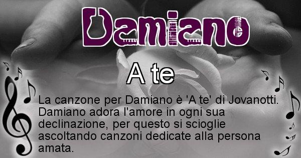 Damiano - Canzone del Cognome Damiano