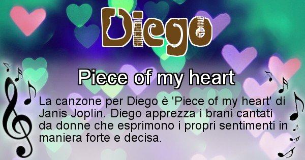 Diego - Canzone del Cognome Diego