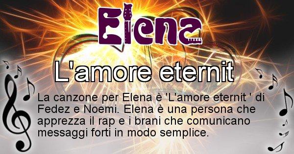 Elena - Canzone del Cognome Elena