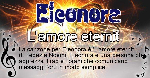 Eleonora - Canzone del Cognome Eleonora