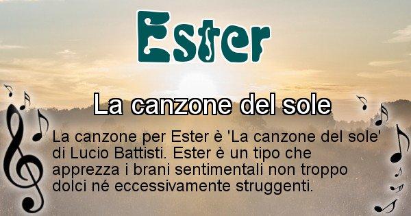 Ester - Canzone del Cognome Ester