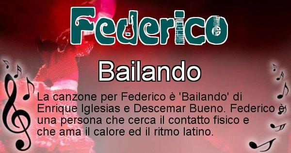 Federico - Canzone del Cognome Federico