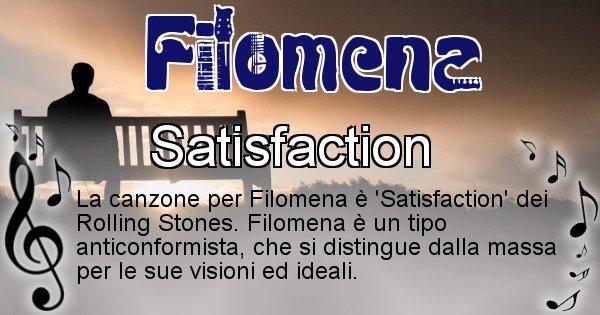 Filomena - Canzone del Cognome Filomena
