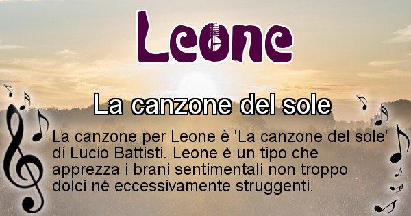 Leone - Canzone del Cognome Leone
