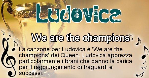 Ludovica - Canzone del Cognome Ludovica