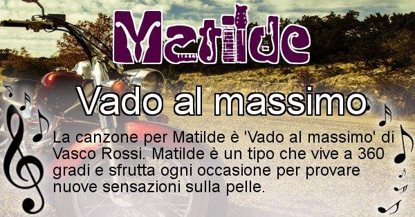 Matilde - Canzone del Cognome Matilde