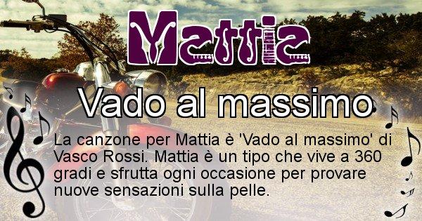 Mattia - Canzone del Cognome Mattia