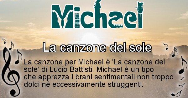 Michael - Canzone del Cognome Michael