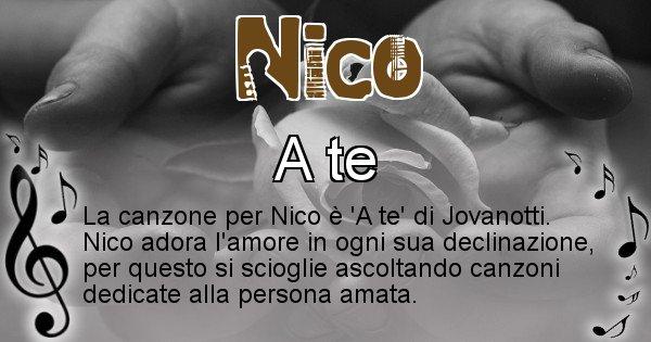 Nico - Canzone del Cognome Nico