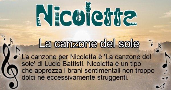 Nicoletta - Canzone del Cognome Nicoletta