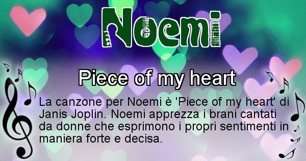 Noemi - Canzone del Cognome Noemi