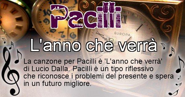 Pacilli - Canzone del Cognome Pacilli