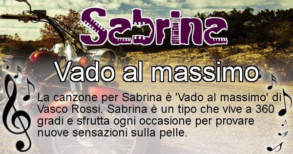 Sabrina - Canzone del Cognome Sabrina