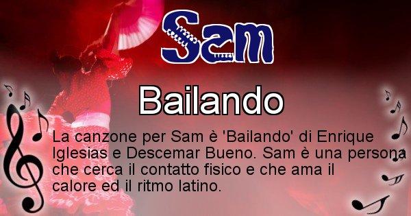 Sam - Canzone del Cognome Sam