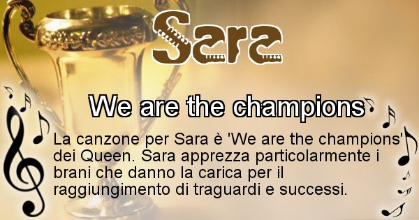 Sara - Canzone del Cognome Sara