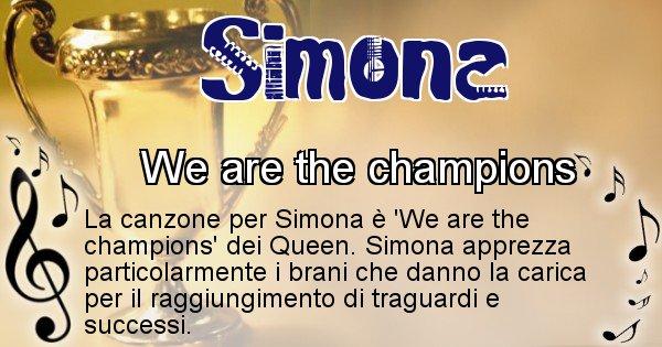 Simona - Canzone del Cognome Simona