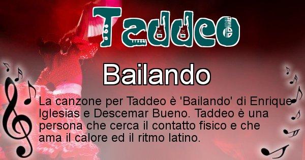Taddeo - Canzone del Cognome Taddeo