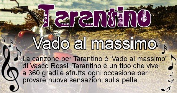 Tarantino - Canzone del Cognome Tarantino