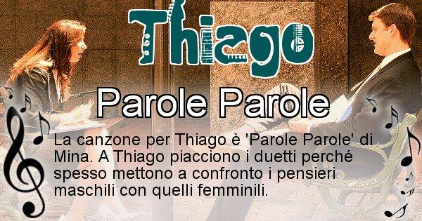 Thiago - Canzone del Cognome Thiago