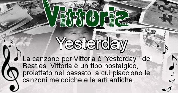 Vittoria - Canzone del Cognome Vittoria