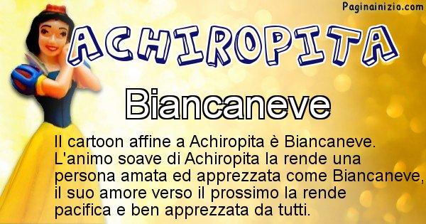 Achiropita - Personaggio dei cartoni associato a Achiropita