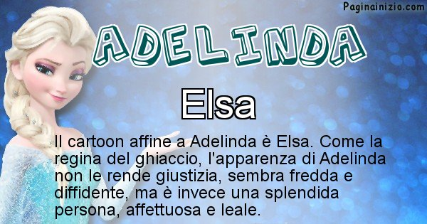 Adelinda - Personaggio dei cartoni associato a Adelinda