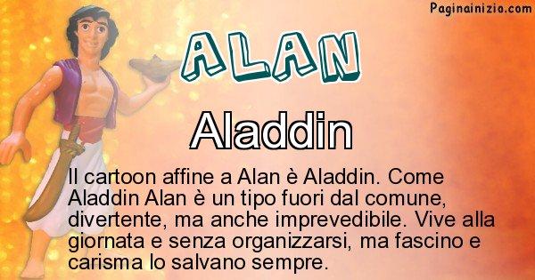 Alan - Personaggio dei cartoni associato a Alan