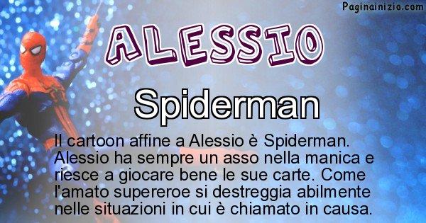 Alessio - Personaggio dei cartoni associato a Alessio