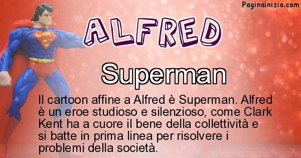 Alfred - Personaggio dei cartoni associato a Alfred
